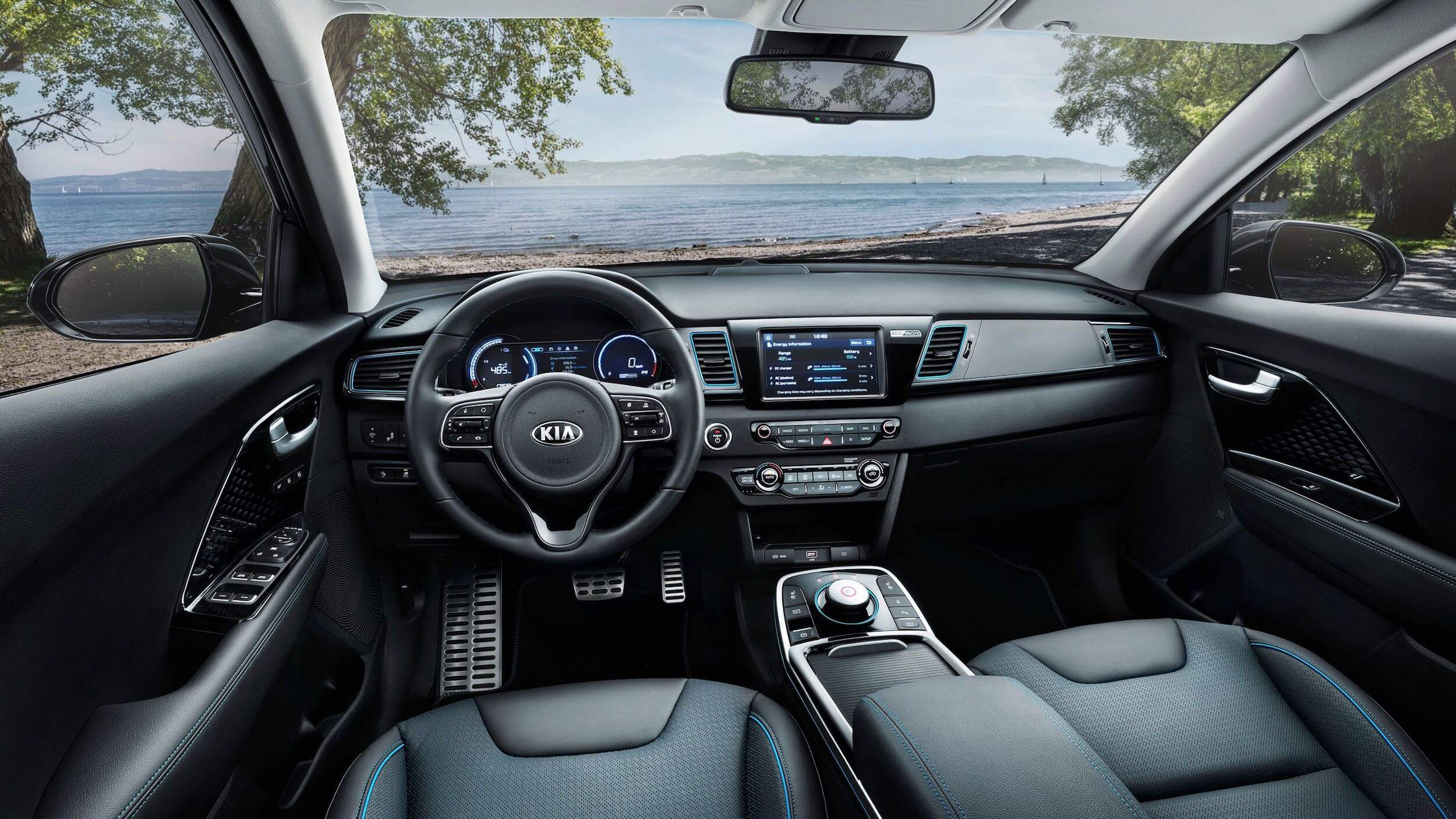 Kia e-Niro Electric interior dashboard cadeiras