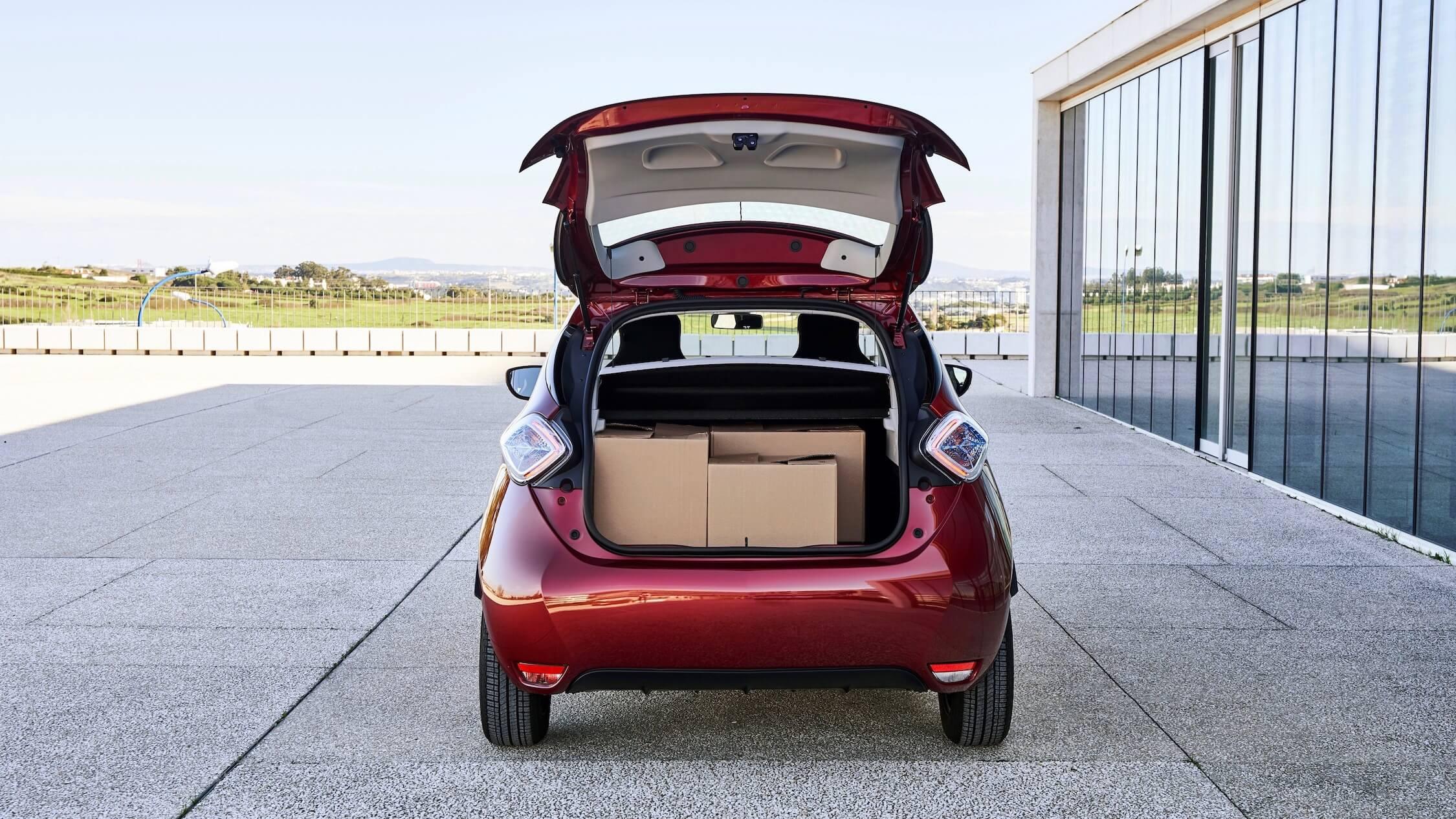 Renault Zoe bagageiro