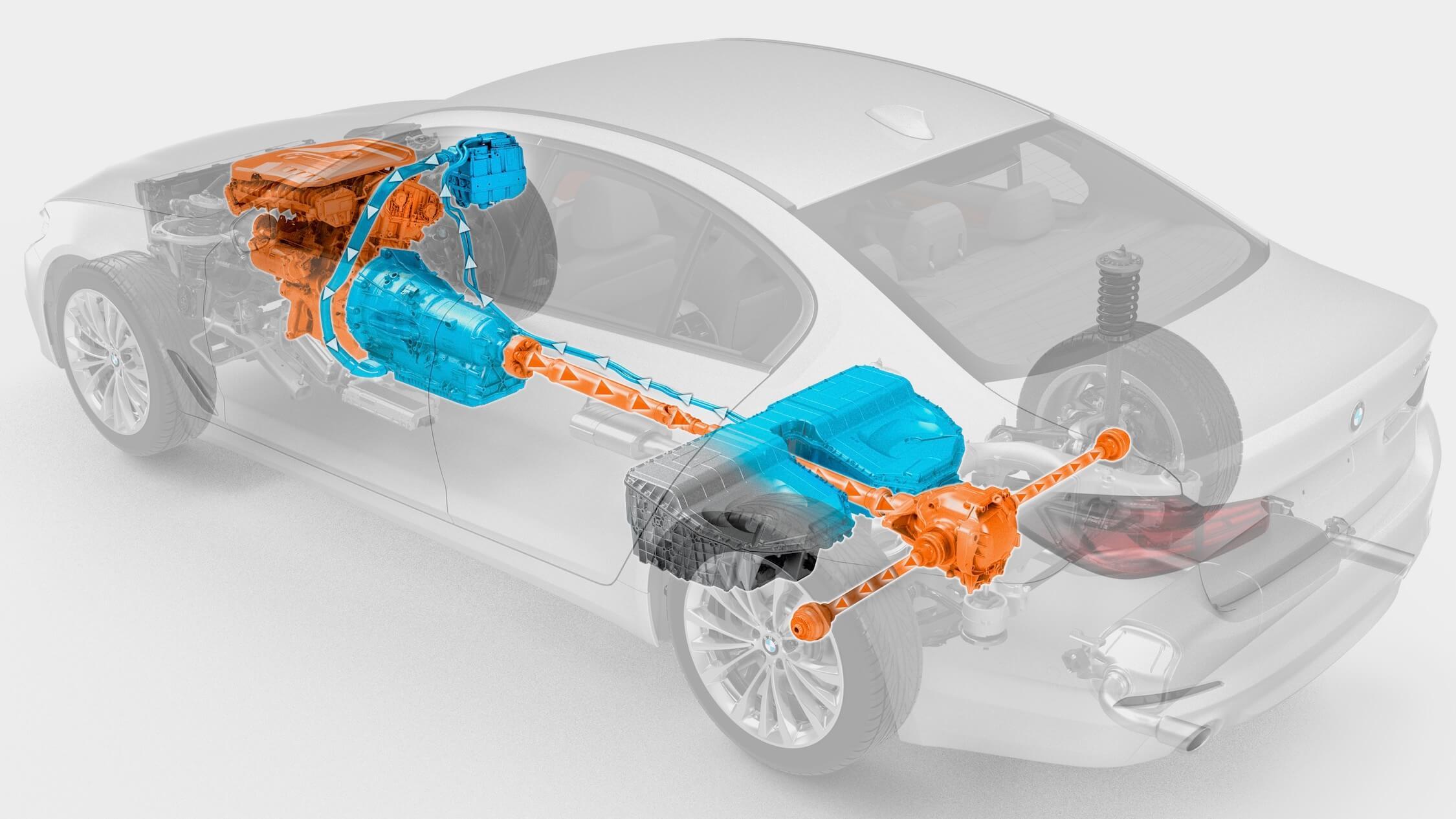 BMW 530e bateria e cadeia cinemática