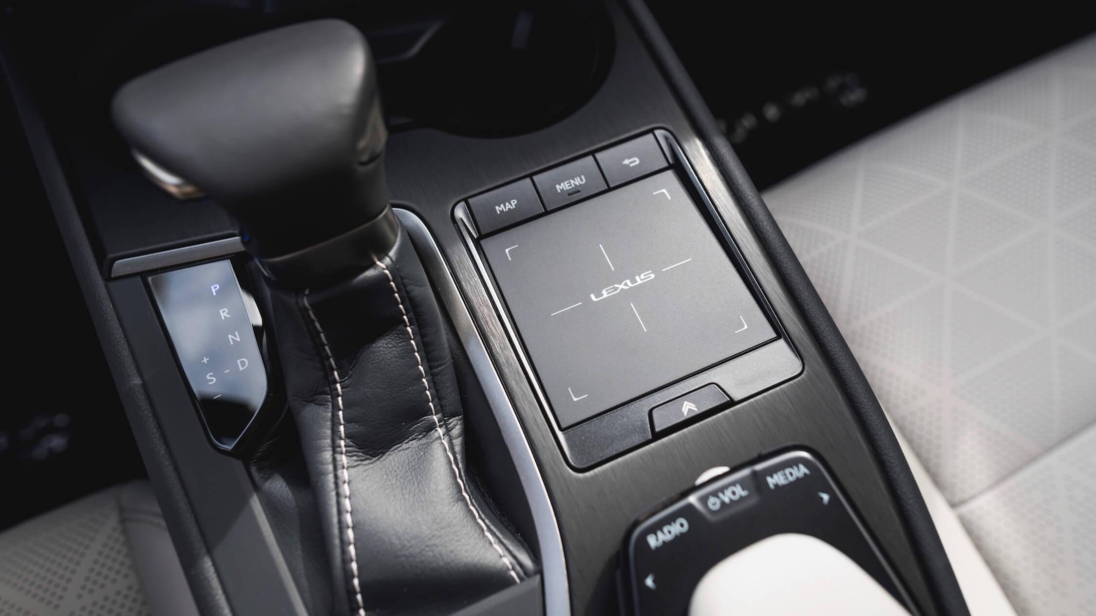 Lexus UX 250h infotainment controls