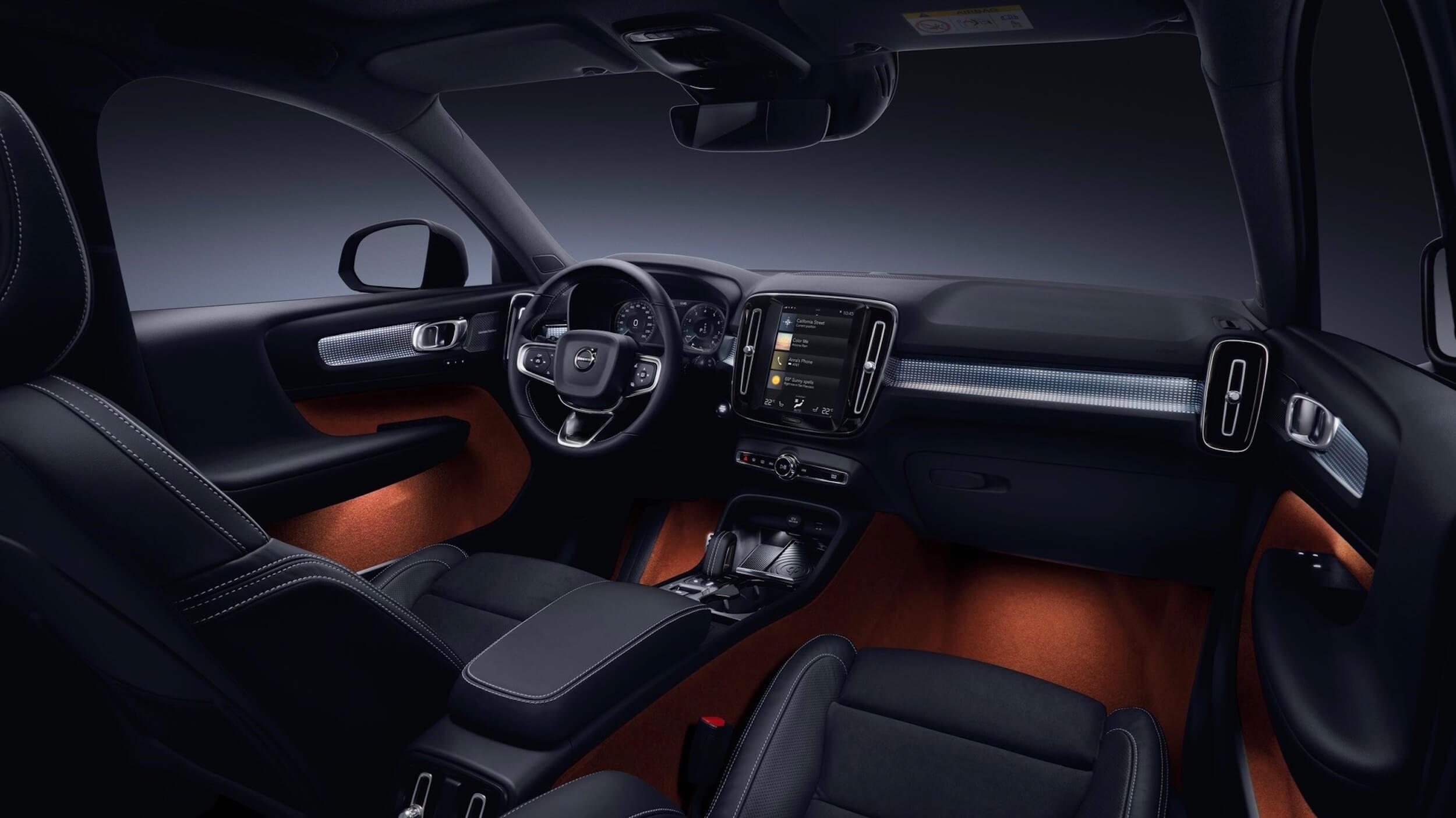 Volvo XC40 PHEV interior