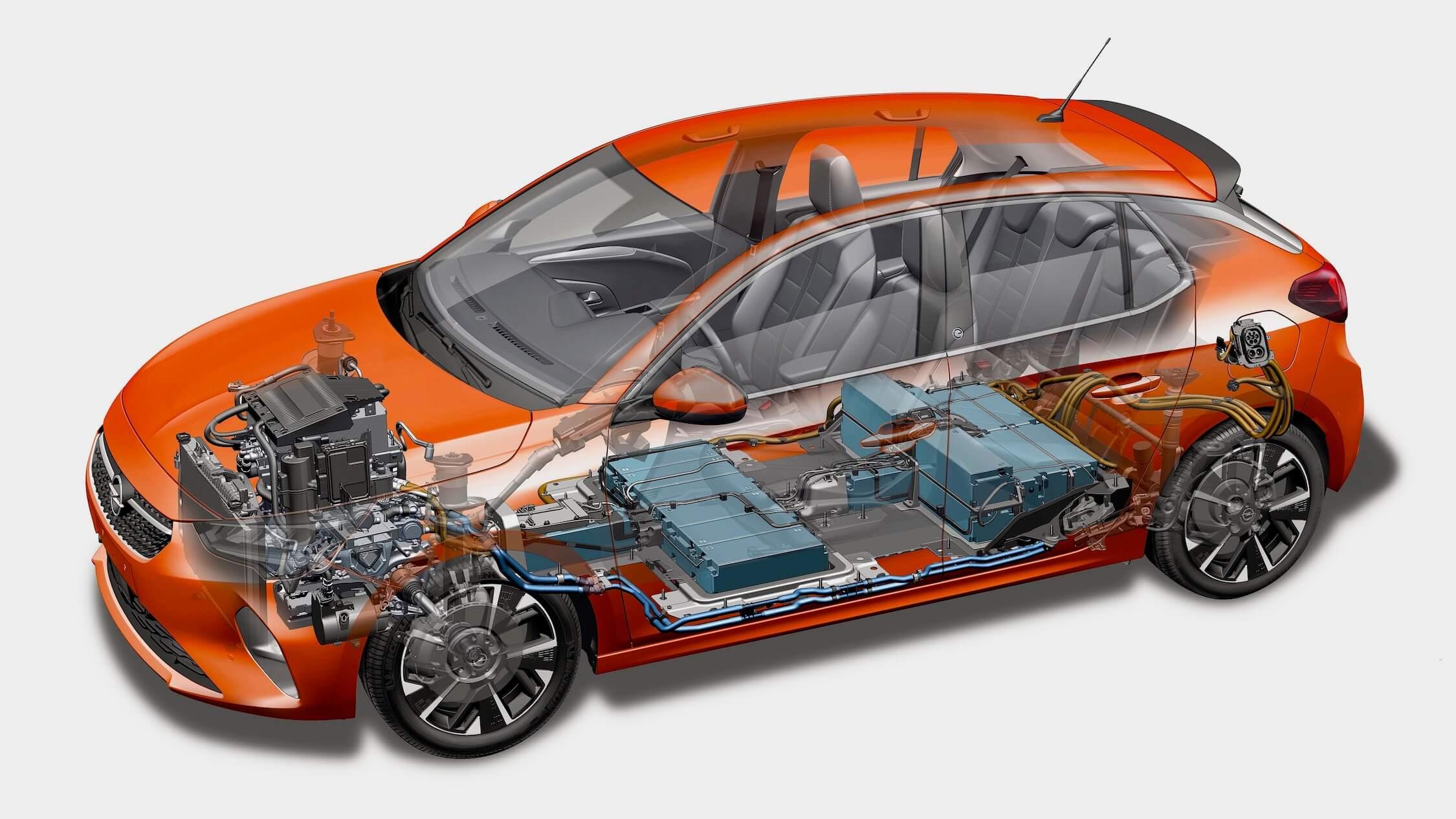 Opel Corsa e bateria