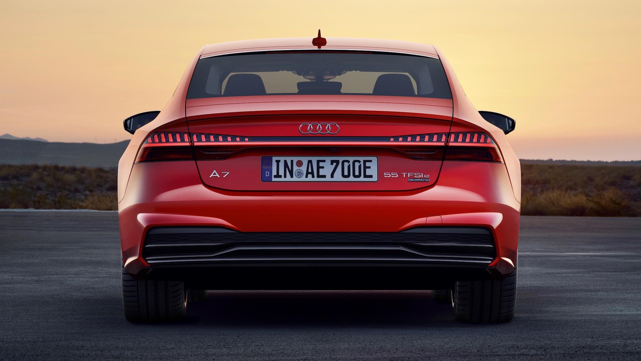 Audi A7 híbrido traseiro