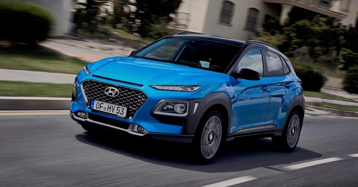 Hyundai Kauai híbrido azul