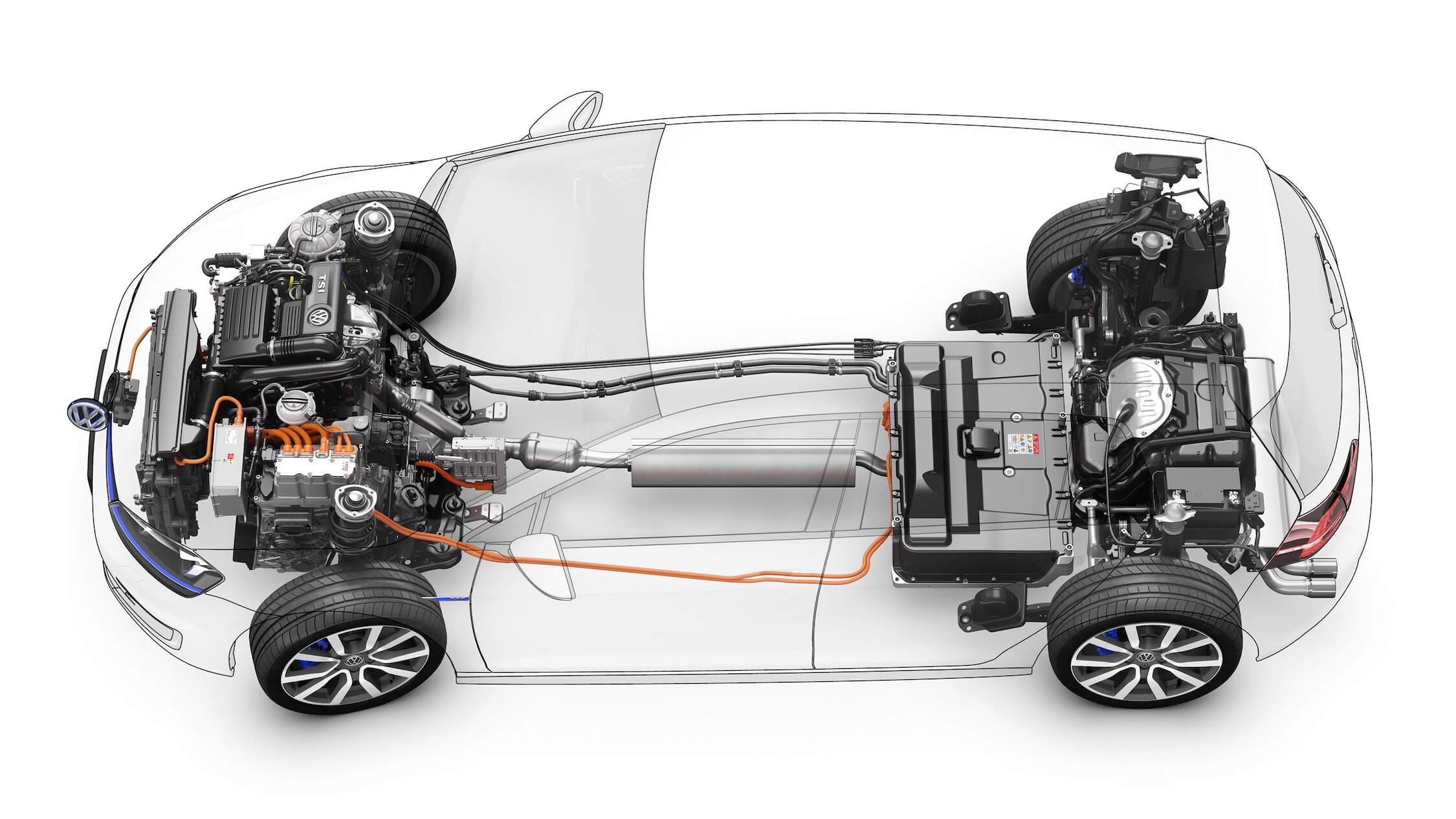 VW Golf GTE cadeia cinemática