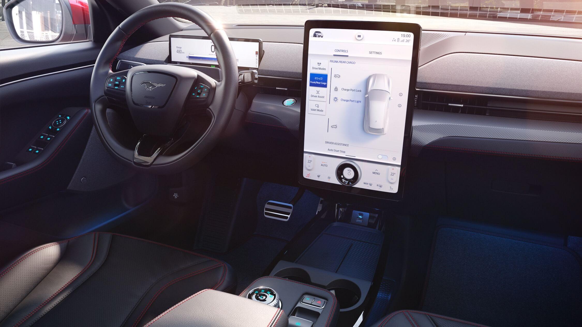 Ford elétrico ecrã