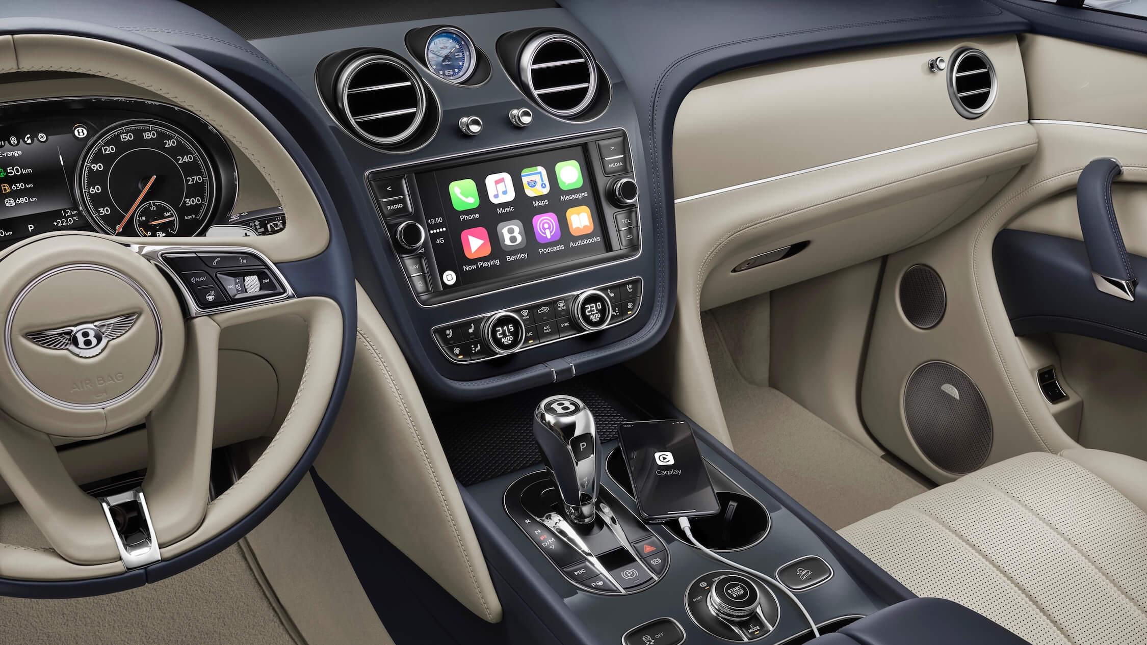 Bentley Bentayga dashboard