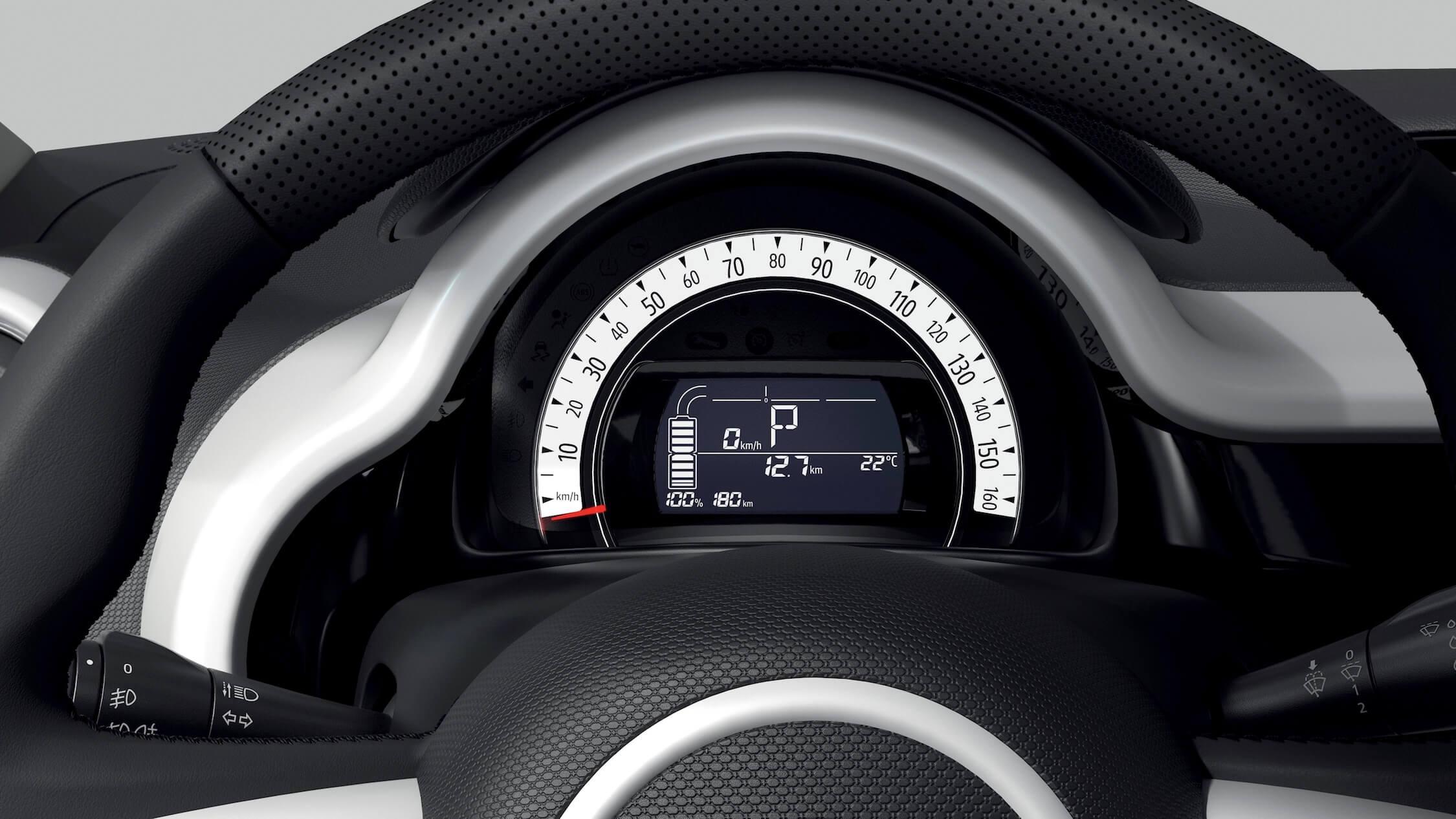 Renault Twingo ZE elétrico tacômetro