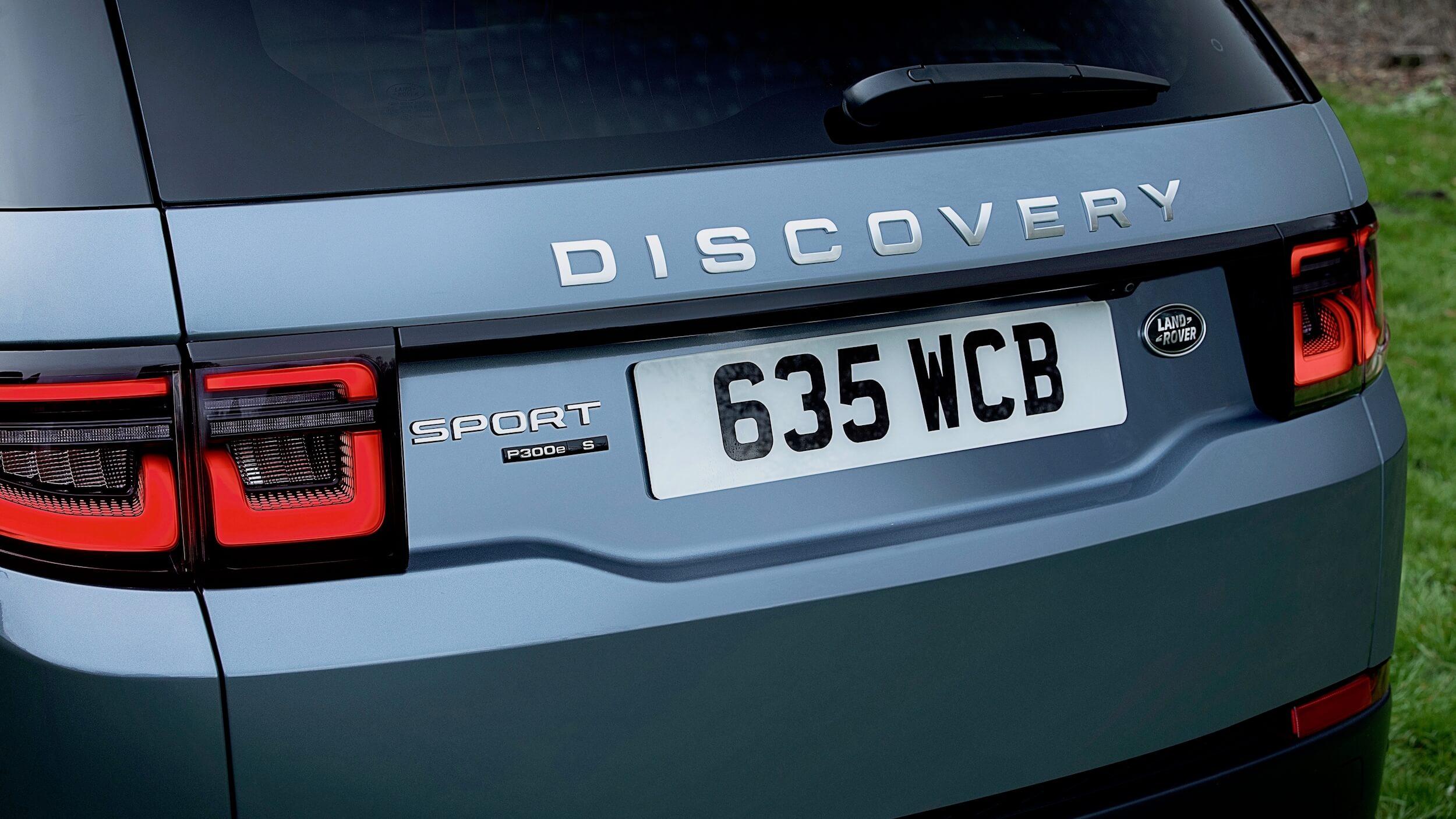 Land Rover Discovery híbrido badge