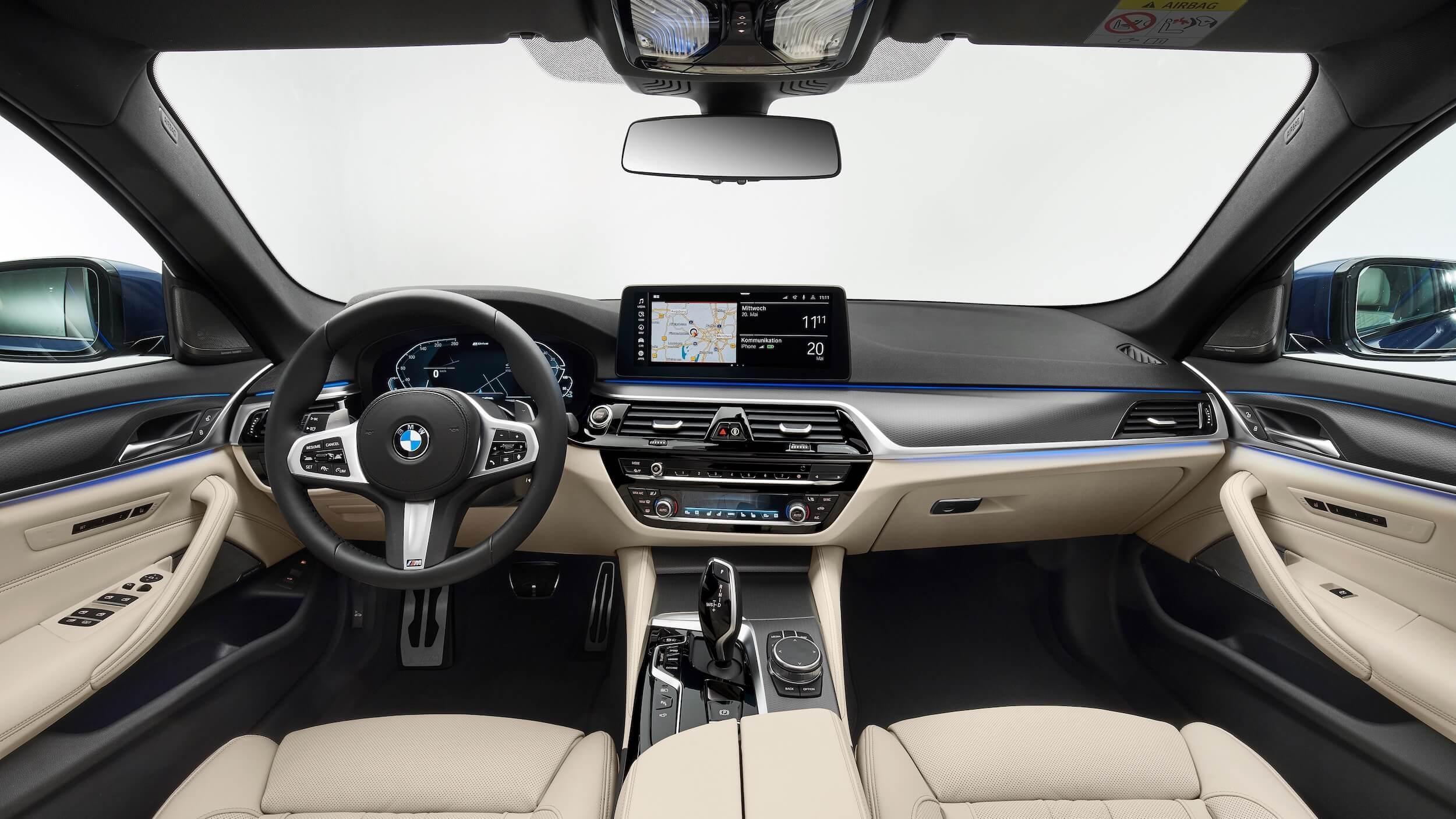 BMW 530e G30 facelift dashboard