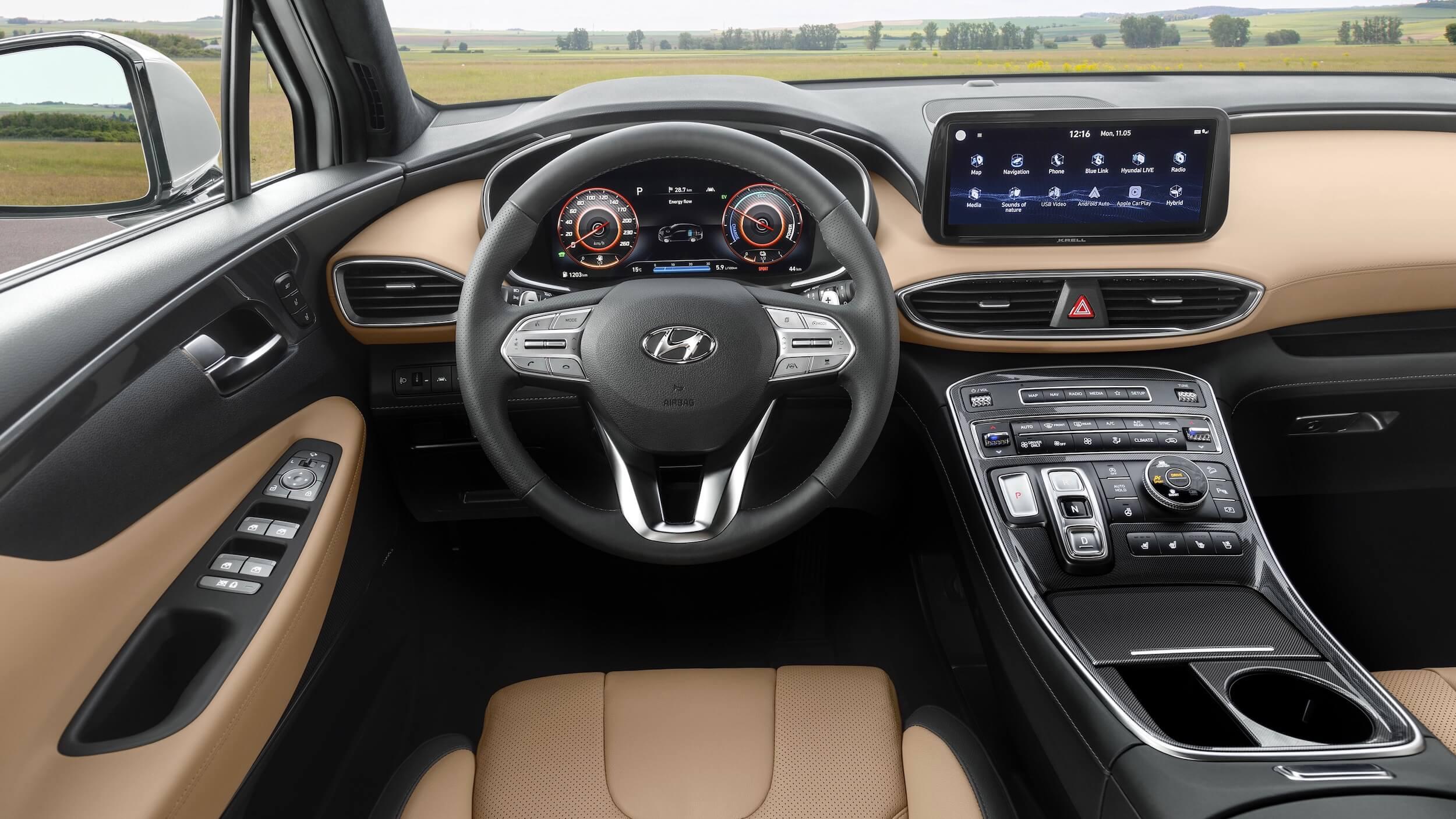 Hyundai Santa Fe hybrid interior