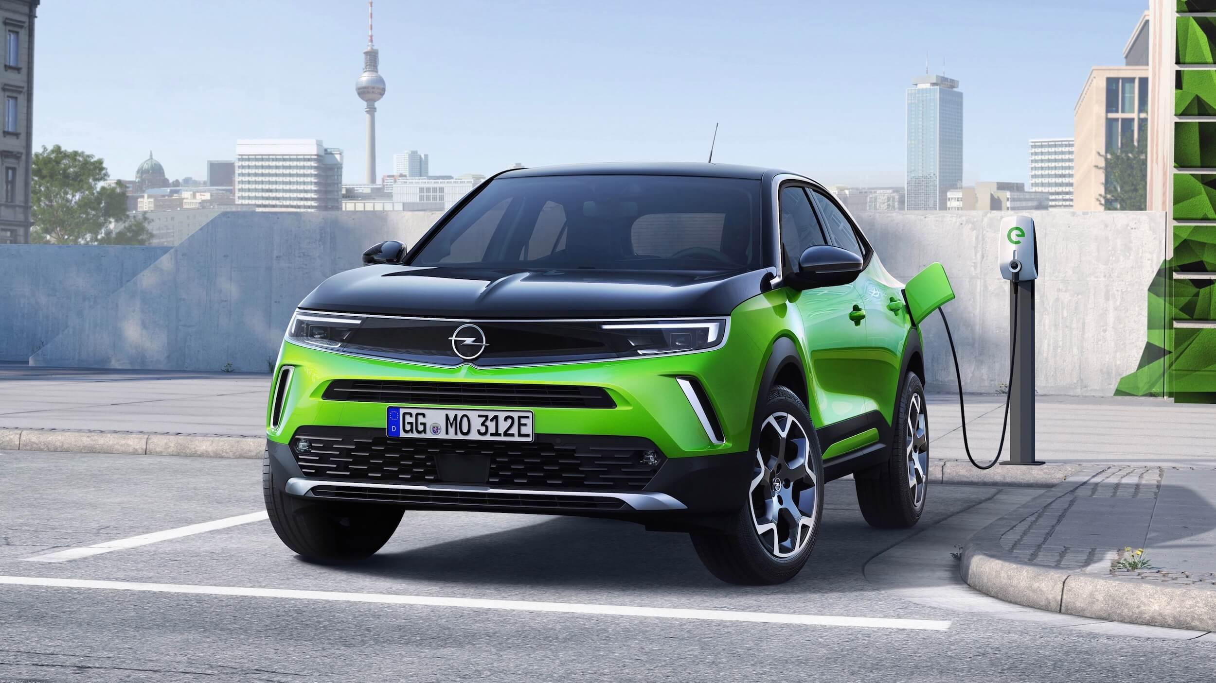 Opel Mokka e ponto de carregamento