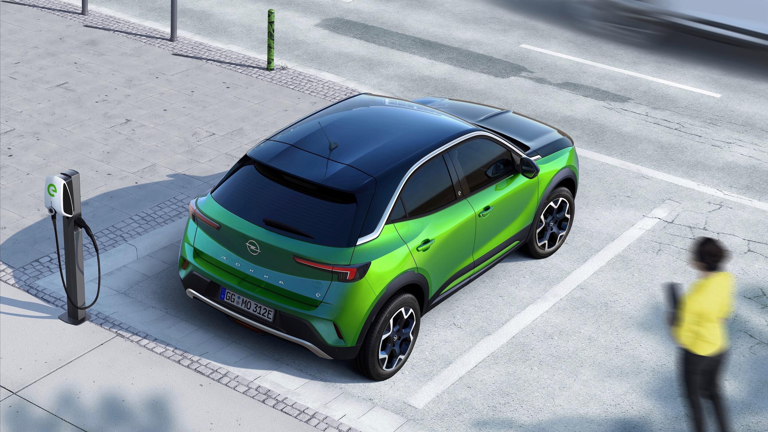 Opel Mokka elétrico posto de carregamento