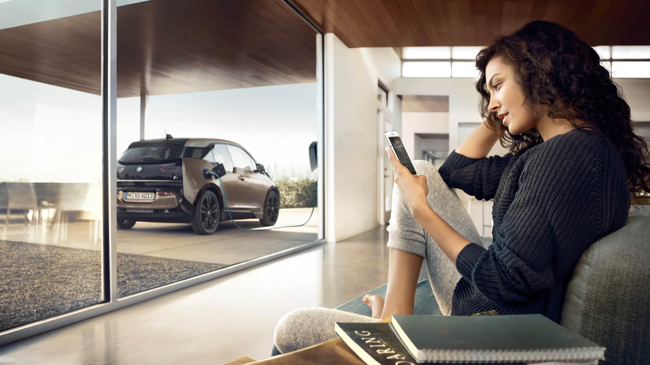 BMW i3 carregar em casa