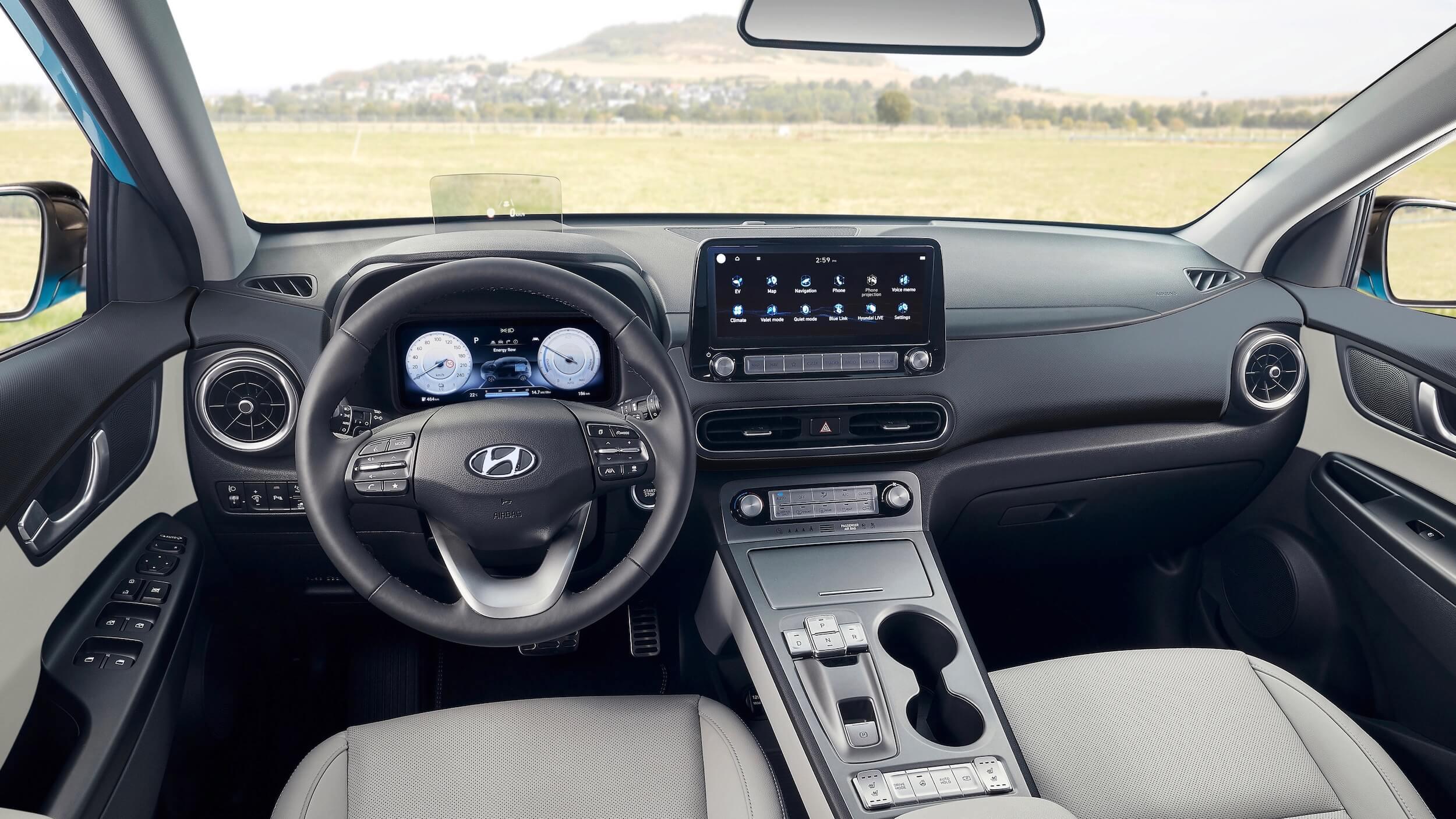 Nieuwe Hyundai Kona EV interior