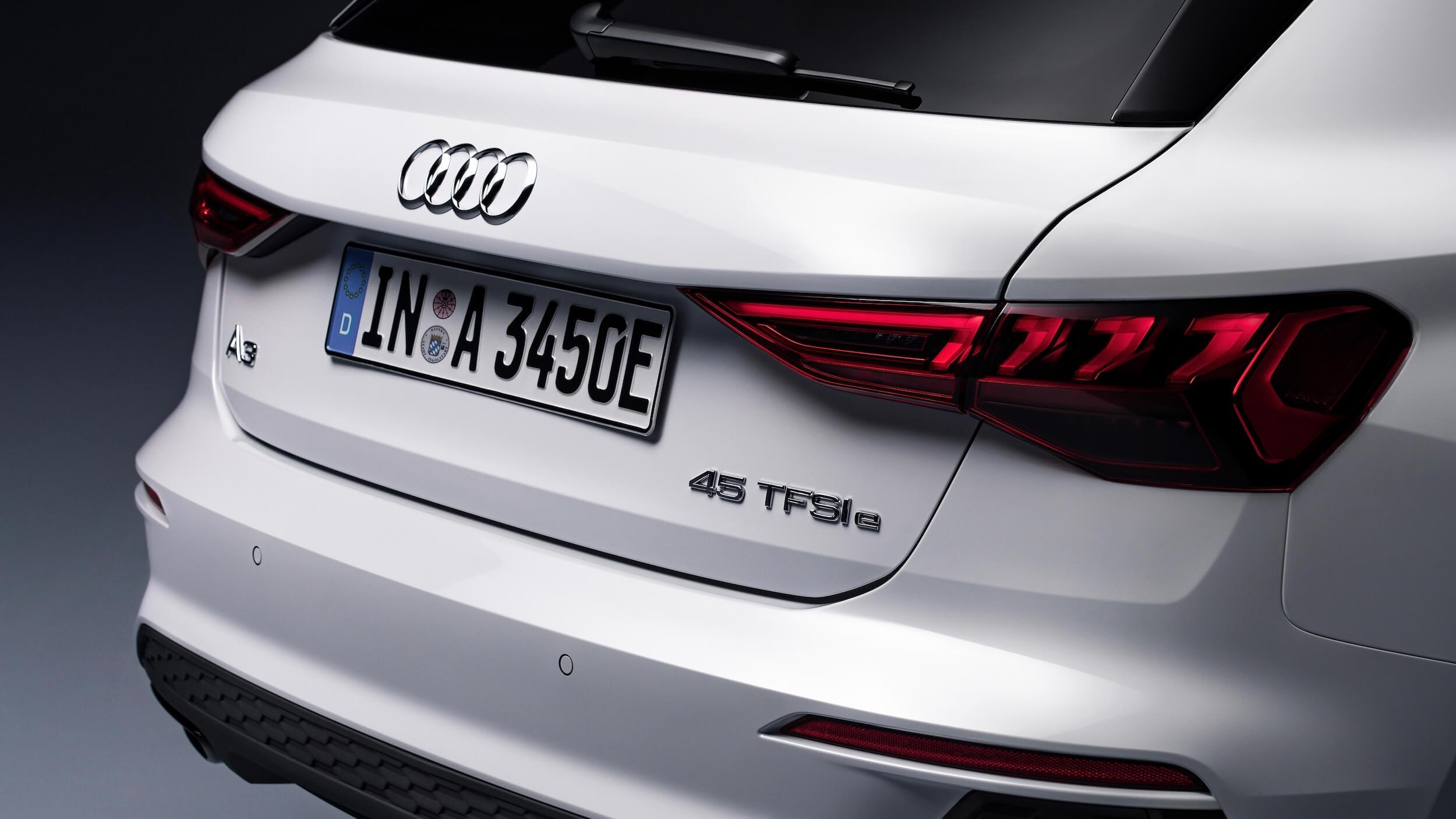 Audi A3 Sportback 45 TFSIe badge