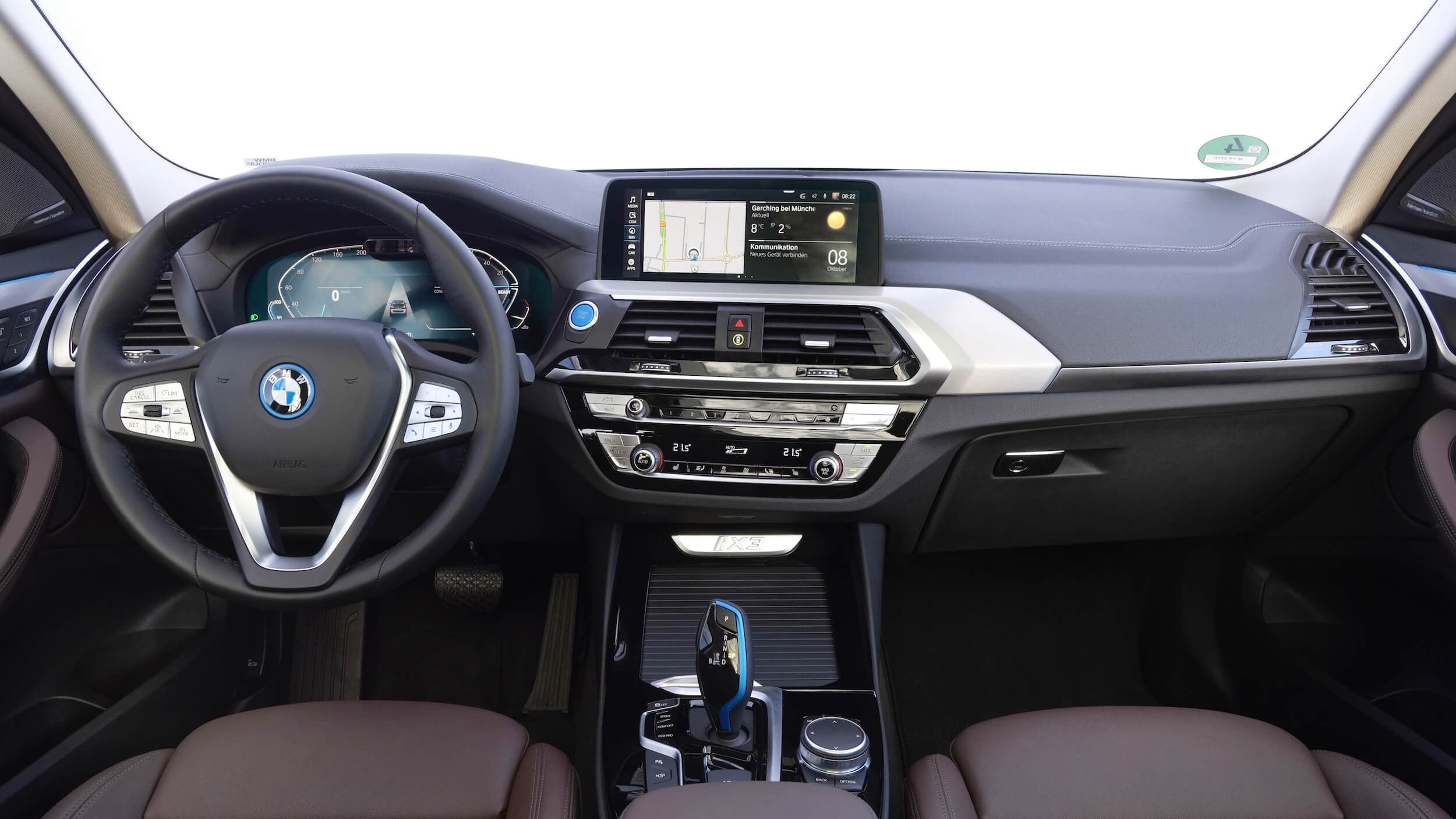 BMW iX3 interior dashboard