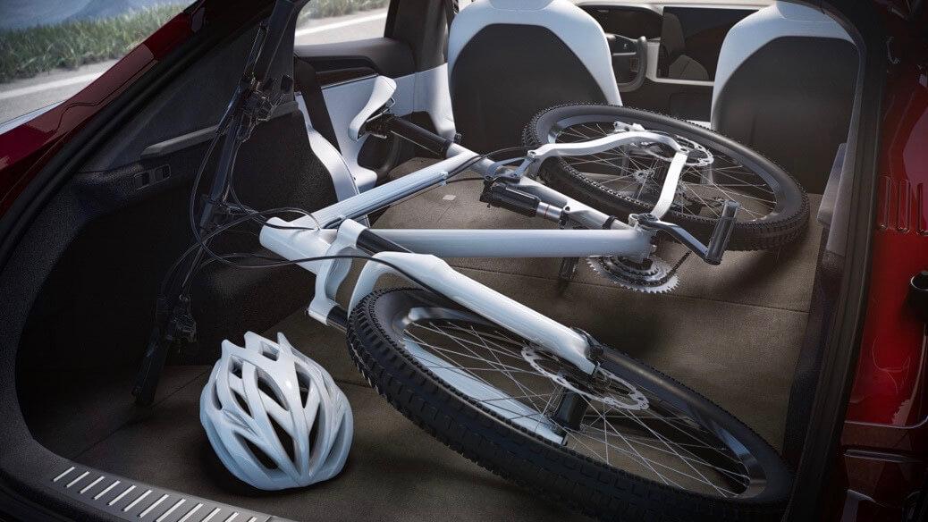 Tesla Model S bicicleta