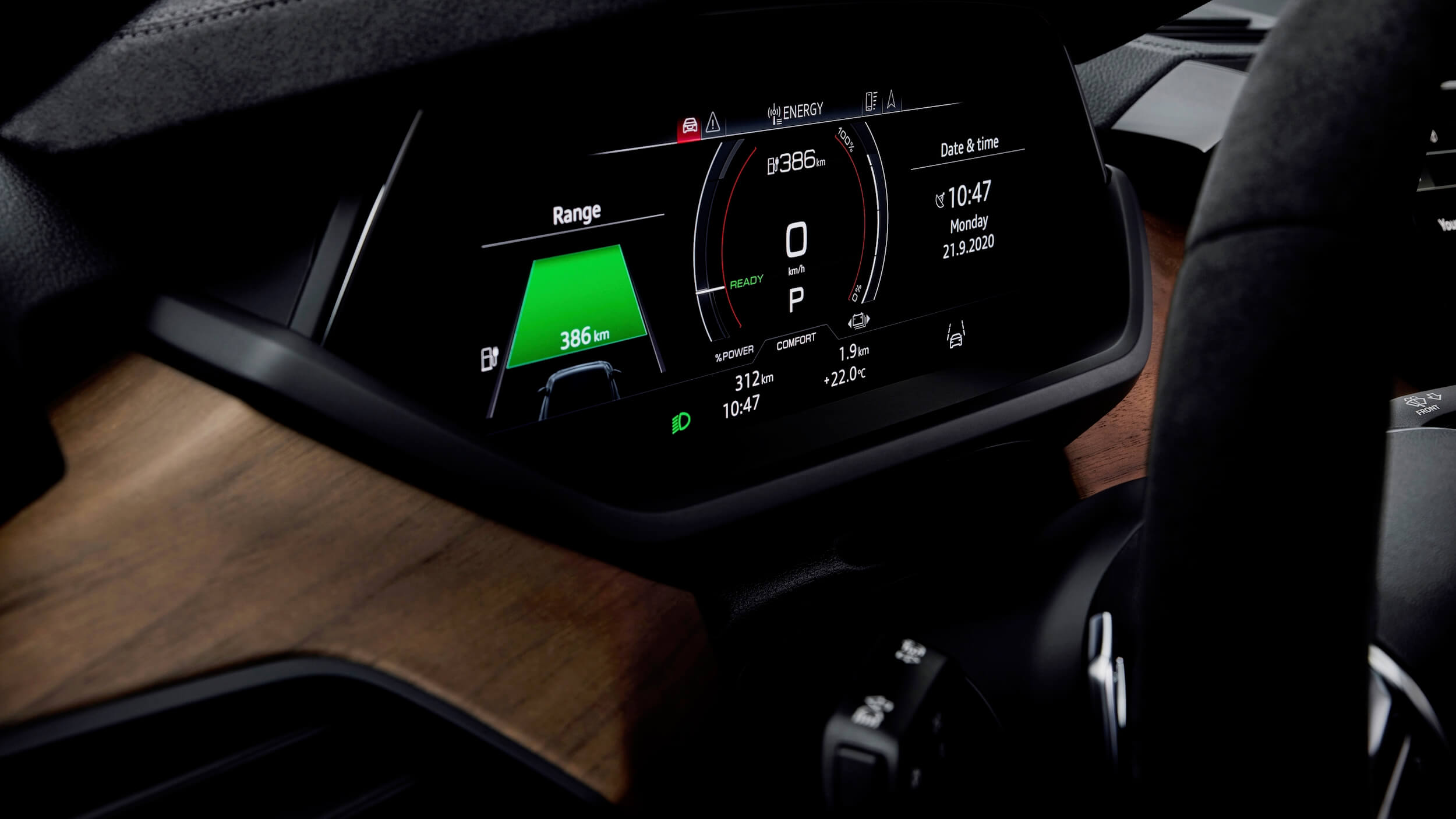 Audi e tron GT ecrã