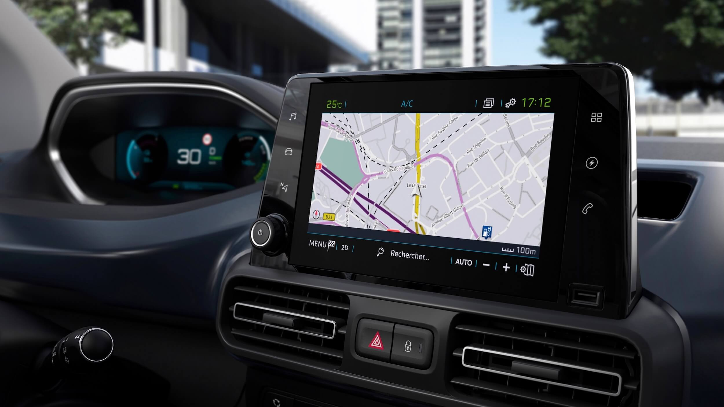 Peugeot e Rifter ecrã