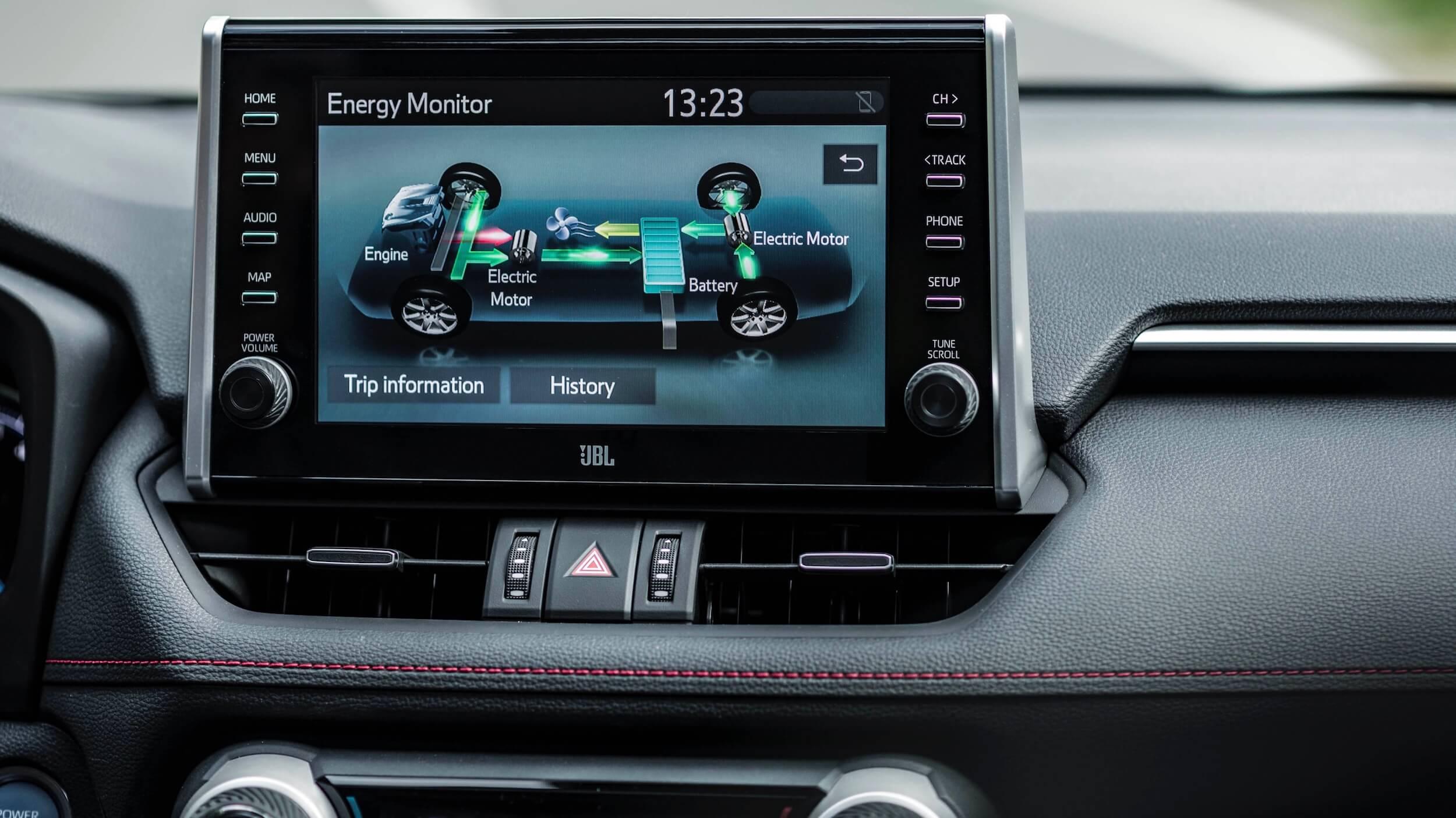 Toyota RAV4 híbrido plug in infotainment