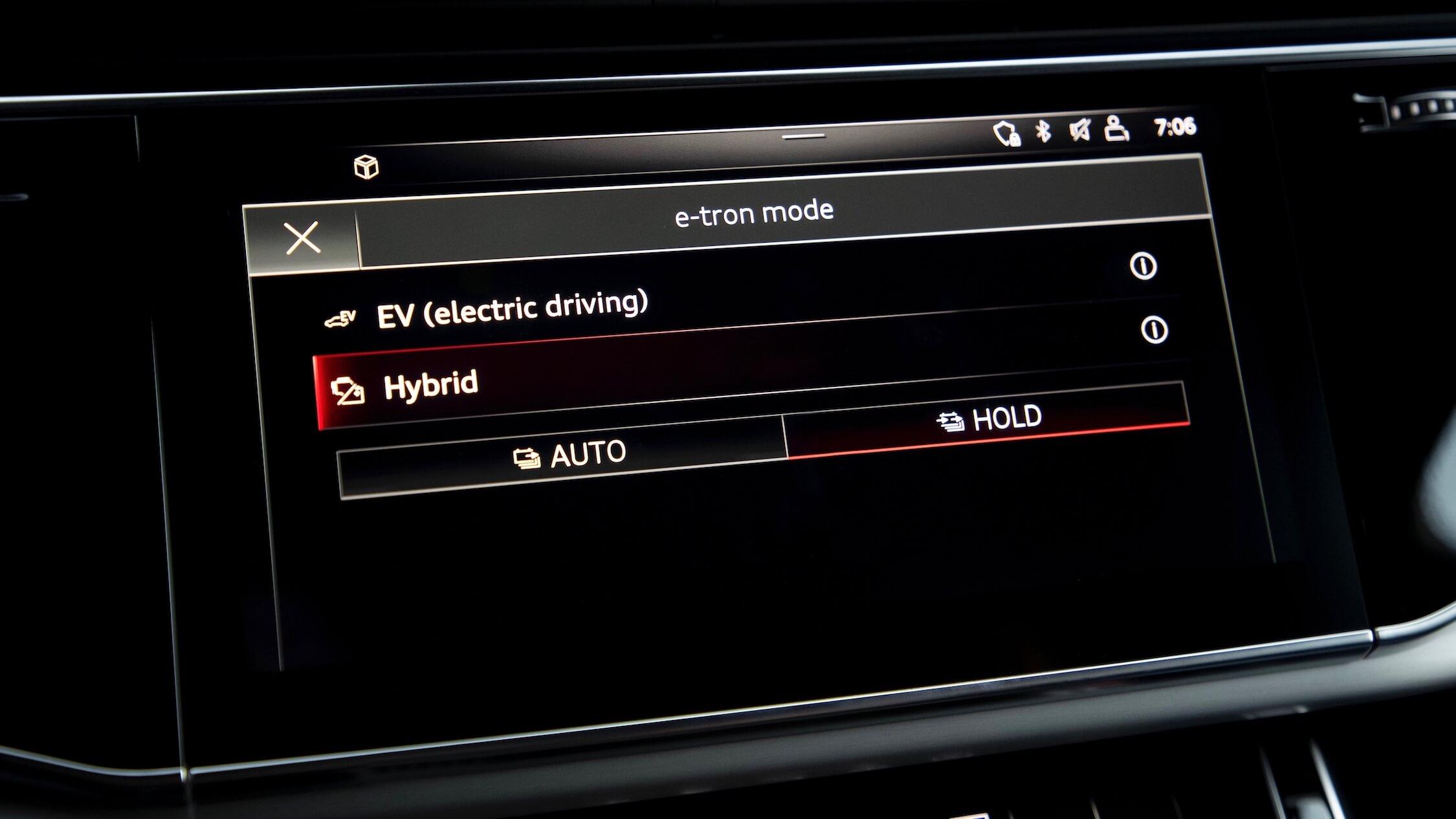 Audi Q7 híbrido infotainment