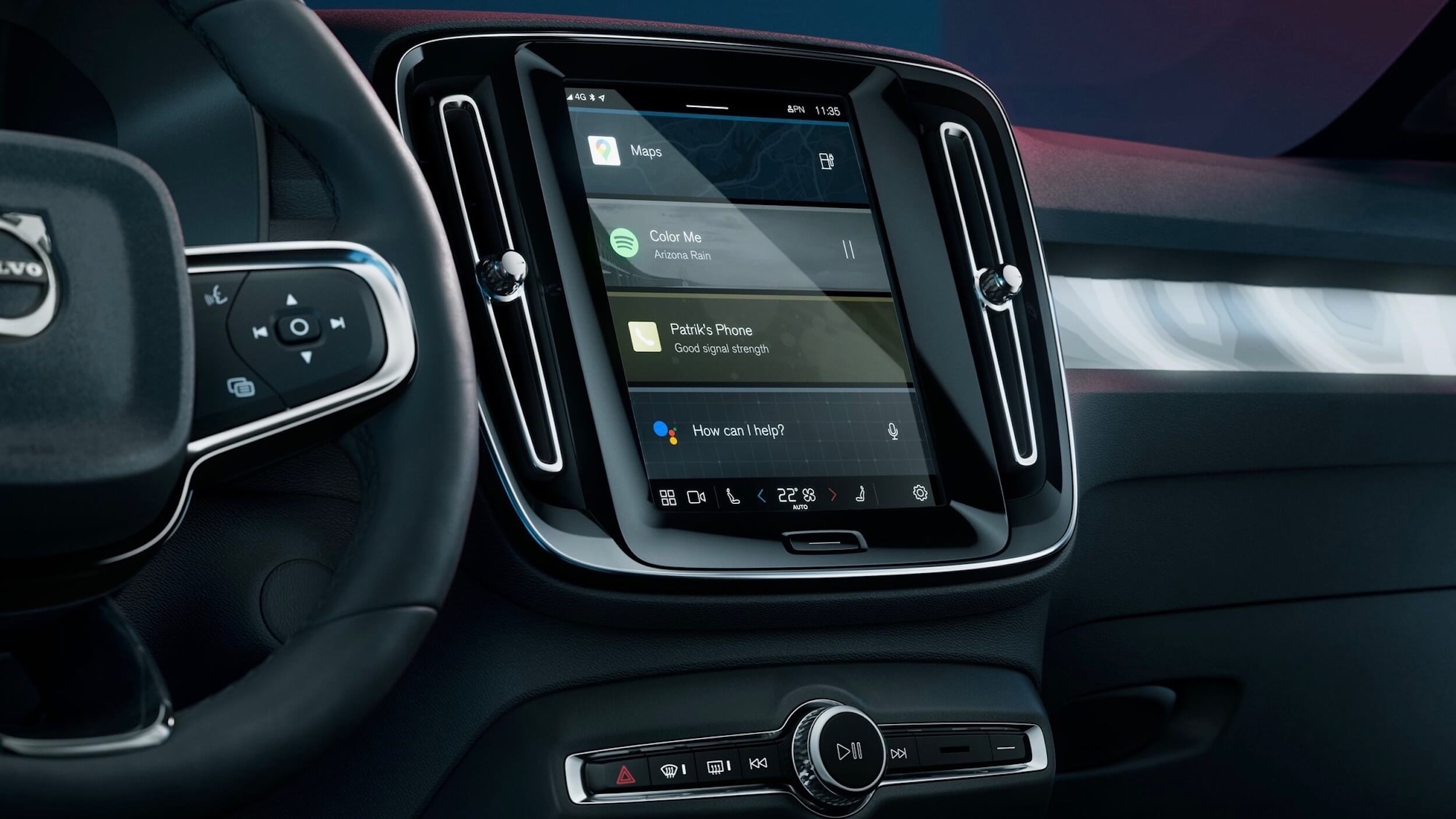 Volvo C40 Recharge dashboard