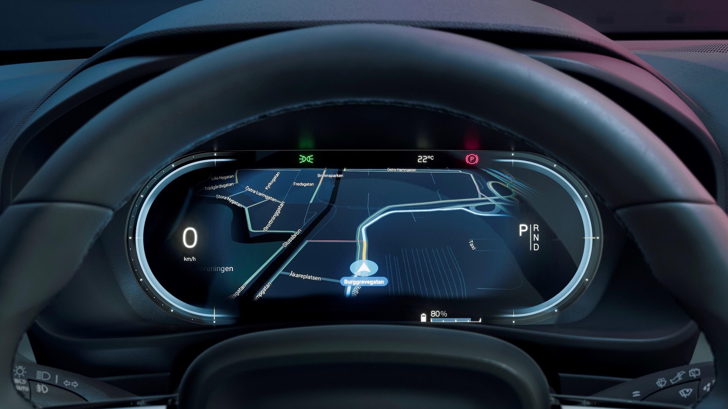 Volvo C40 Recharge tacômetro