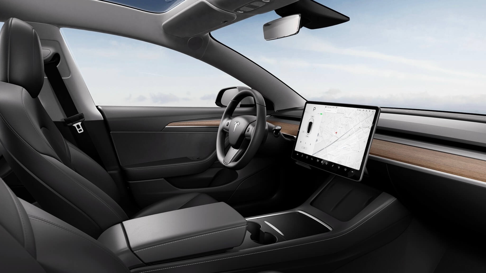 Tesla Model 3 interior 2021