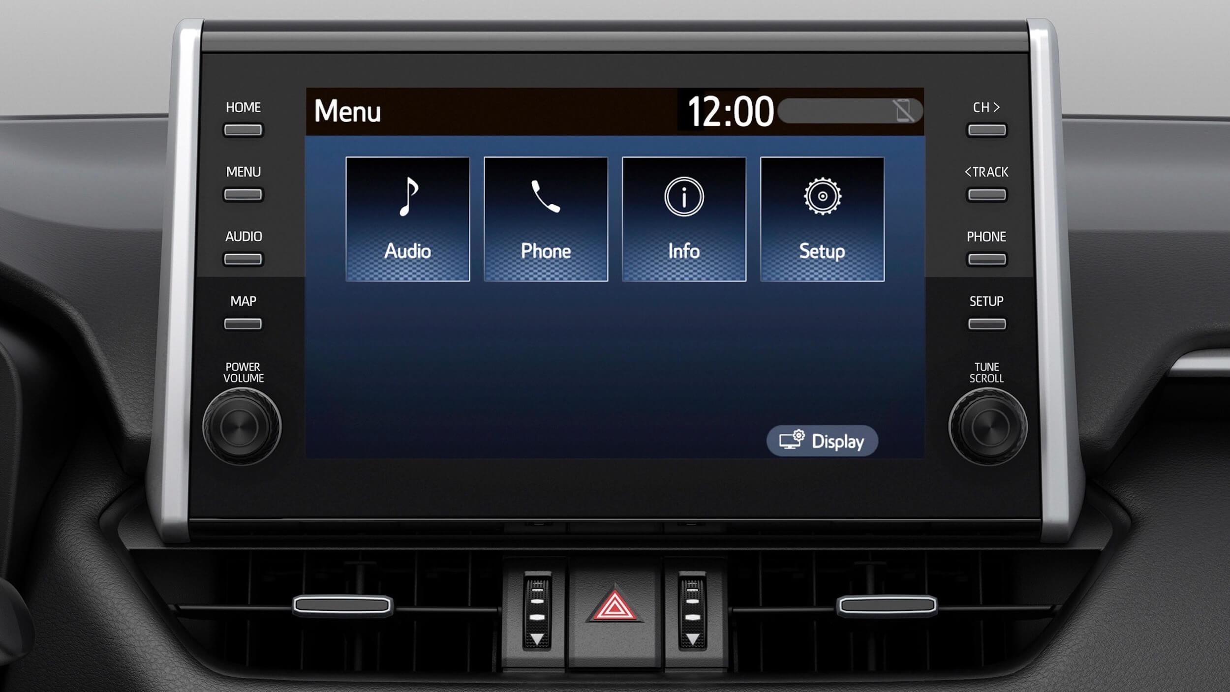 Suzuki Across SUV ecrã