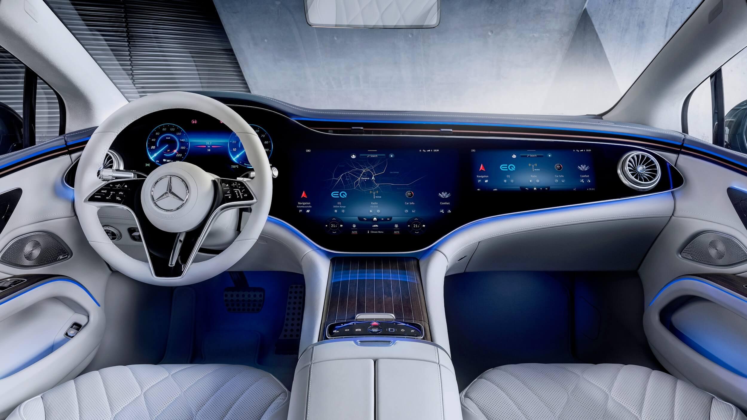 Mercedes EQS interior 2
